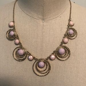 Jewelry - Pink and Purple Statement Necklace